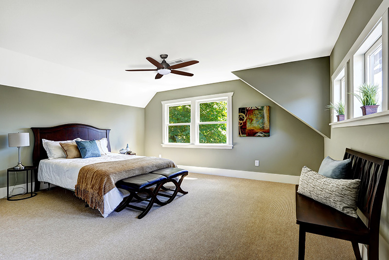 Bedroom Ceiling Fan Installation